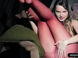 seductive ivana in nylons teasing snatch with sex
