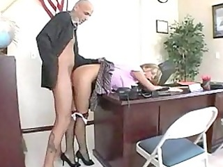 sexy blond schoolgirl rammed from behind by her