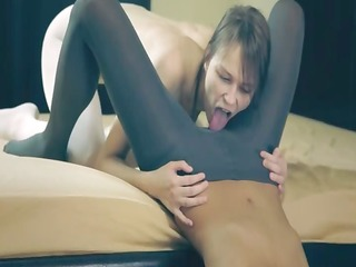outstanding admirable lesbian babes in hose