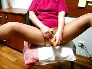 Pushunas masturbating in crotchless pantyhose