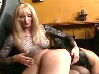 aged golden-haired shelady dominates a bound up