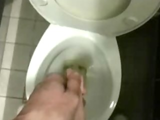 naked piss at work