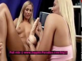 ingrid and larissa lusty lesbo teenies toying