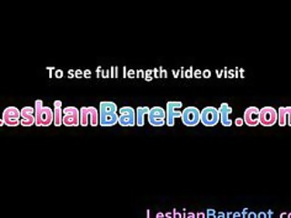 breasty lesbian babes toes and sex tool fucking