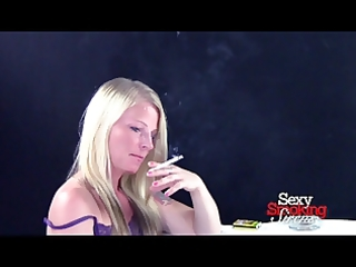 smokin fetish - golden-haired nico smokes a