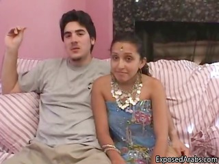 Naughty Arab teen girl showing part4