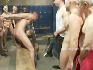 after gym showers witness a homo group sex romp