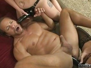 lustful boy receives his a-hole team-fucked with