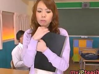 eri ouka lovely oriental teacher enjoys weenie