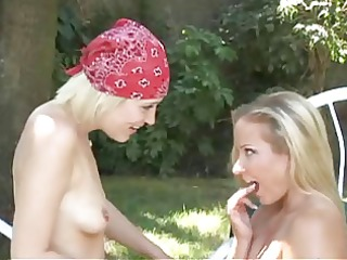 gals in love - lovely golden-haired lesbos in the
