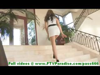 ella excellent blond woman posing undressed and