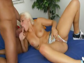 youthful golden-haired rides oral