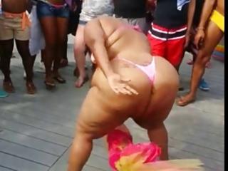 swarthy big beautiful woman dancing