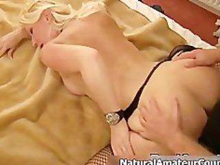 concupiscent golden-haired slut getting her