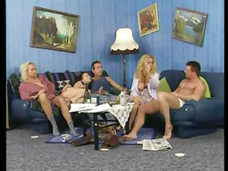 lewd aged blond amateurs in a hawt foursome fuck