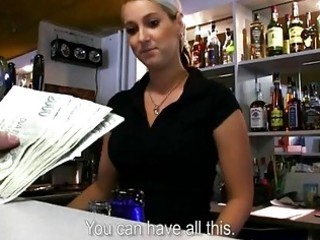 large love muffins bartender babe screwed at work