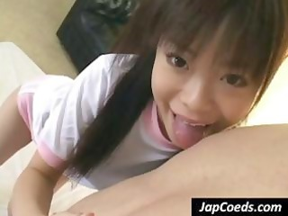 oriental schoolgirl gives him a oral pleasure pov