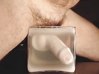 spermboy cum in sexy candle wax 083