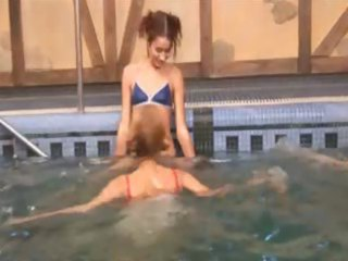 russian princesses in the pool