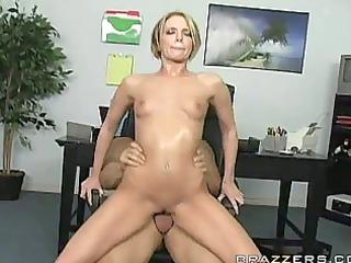 golden-haired slut rides a hard jock and sucks