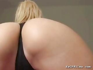 lustful girlfriend shaking her butt