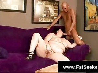 bulky angel engulfing and fucking