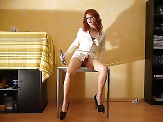 latex nurse preparing for pleasure