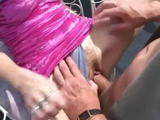 violet blue enjoys a hard fourman group sex on a