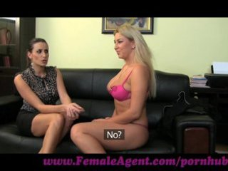 femaleagent. brunette hair on golden-haired