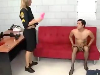 mmf officer makes prisoner her sissy bitch