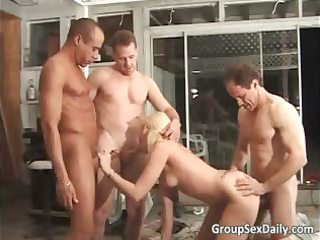 what a vigorous group sex with blond part2