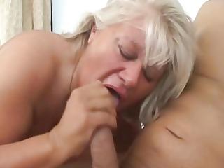 blondy older big beautiful woman and large shlong