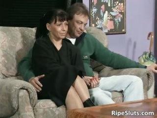 unsightly aged floozy sucks ramrods