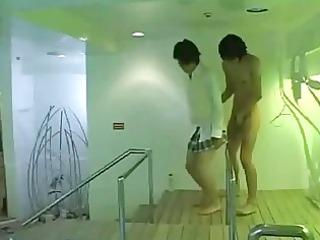 japanese school homo acquires a chap