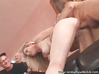 gorgeous and hot wife fucked with a giant knob