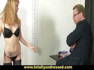 hardcore job interview for sexy golden-haired
