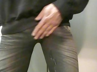 cum in taut leggings