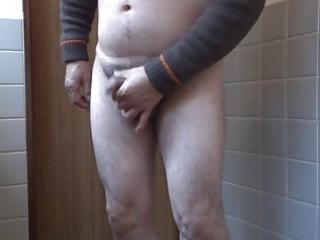 japanese old dude masturbation upright wang