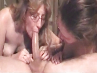 fortunate boy acquires deepthroated by his wife