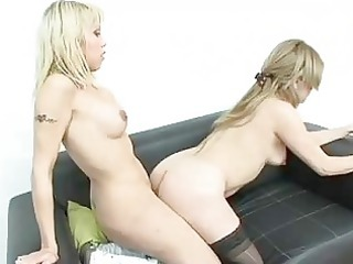 ladyman yanina and her bigcock stretching a love