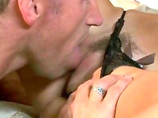 older tattooed dude bangs darksome haired momma