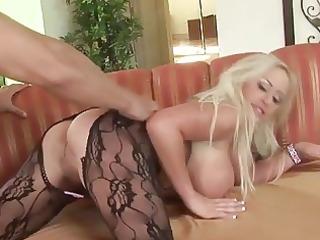 blond savannah gold getting anal