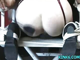 he is lightly spanks her butt