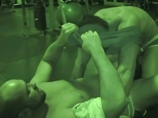 homosexual men fuck on gym floor