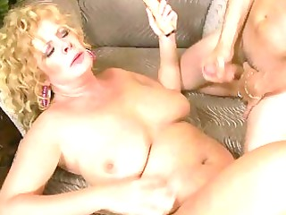 breasty aged lady slurps on biggest chunky prick