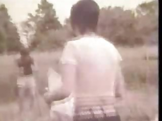 tasty vintage movie of threesome sexy outdoor sex