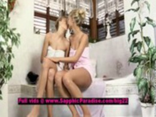 claire and lena breathtaking lesbo nubiles teasing