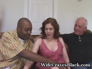 excited wife bonks darksome for hubby