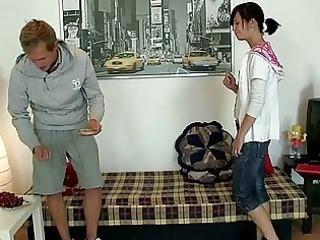 attractive chap copulates his girlfriend