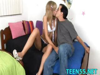 lustful legal age teenager explores aged jock